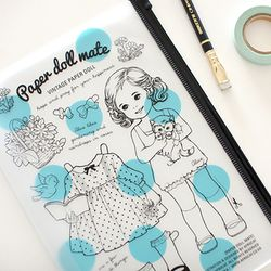 paper doll mate clear pouch-L