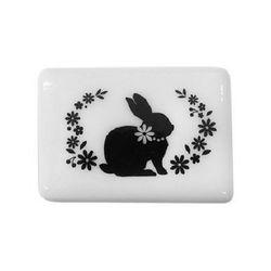 실루엣 스탬프 G 시리즈 : 꽃밭의 토끼