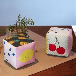 fruit cube cushion