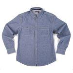 자니카슨 슬림 투포켓셔츠 - BLUE