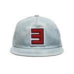 RED 3 DENIM CAP-LIGHT BLUE