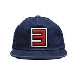 RED 3 DENIM CAP-DARK BLUE
