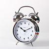 (kts020)트윈벨 탁상시계(크롬화이트)