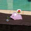 유리 미니어쳐 - 유유자적 여름 돼지