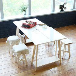 굿트리 -  우드앤화이트 테이블 DIY