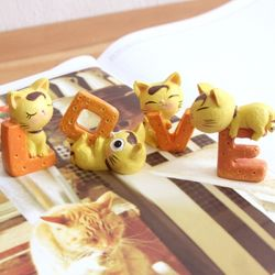 LOVE YEOLLOW CAT 미니어처 오너먼트 4P SET