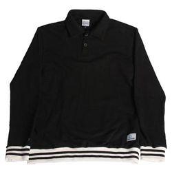 LOGO STITCH SWEAT SHIRT BLACK