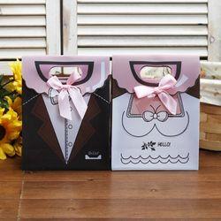 웨딩데이 커플 기프트 쇼핑백1P(디자인색상랜덤)