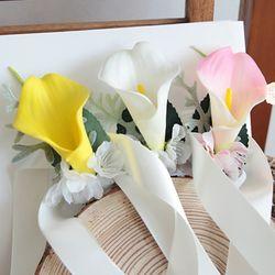 브라이덜샤워 꽃팔찌-카라