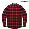 밴웍스 헨리넥 옴브레 체크셔츠 RED(V15SH303)