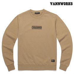 밴웍스 크로스오버 맨투맨 티셔츠 BEIGE(V15TS412)
