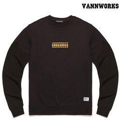 밴웍스 크로스오버 맨투맨 티셔츠 BLACK(V15TS412)