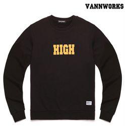 밴웍스 HIGH SWEATSHIRT BLACK(V15TS414)