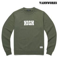 밴웍스 HIGH SWEATSHIRT KHAKI(V15TS414)