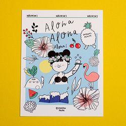 POST CARD - ALOHA