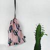 cactus linen pouch