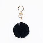 bpb POMPOM KEY RING (BLACK)