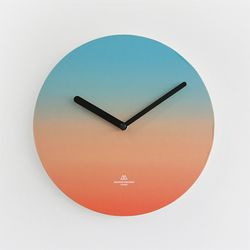 OBJECT CLOCK-BLUE-ORANGE