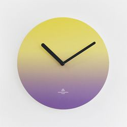 OBJECT CLOCK-YELLOW-PURPLE