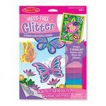 나비와 꽃 글리터 카드