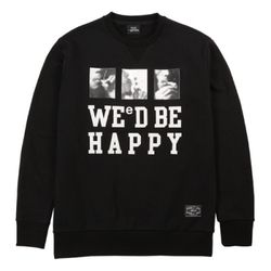 WE D BE HAPPY SWEAT PM150824-07 BLACK