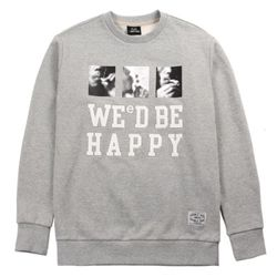 WE D BE HAPPY SWEAT PM150824-08 GREY