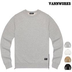 사이드지퍼 무지 스웨트셔츠 4colors(V15TS411)