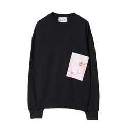 bpb PLATE PRINT SWEAT SHIRT (BLACK)