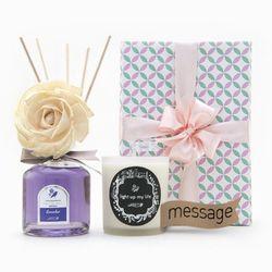 선물세트 메세지 캔들 + 플라워 디퓨저 set