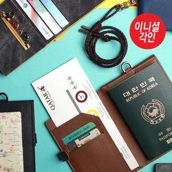 [무료배송] 커버드에어 여권/카드 목걸이 (이니셜각인)