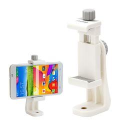 VCM-W553G 화이트 스마트폰 홀더 - 삼각대 셀카봉용