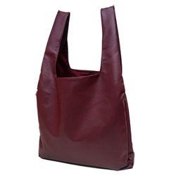 [깅엄버스]심플레더백와인simpeul leather bag wine