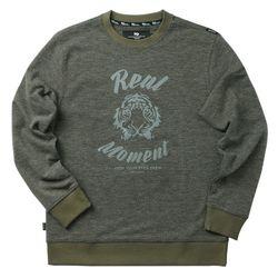 REAL FACE sweat shirt - khaki