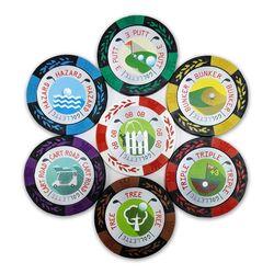 카지노칩 볼마커 7개세트 골프게임용 골렛칩