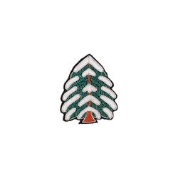 [Macon&Lesquoy] 마콩 자수브로치_눈 덮인 트리