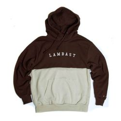 Half cotton hoody(Brown-Beige)