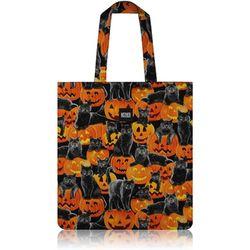 Black Cats & Pumpkins Flat Tote Bag