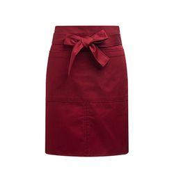 (AA1706) reyard waist apron burgundy