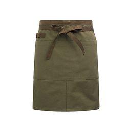 (AA1416) canvas suede waist apron khaki