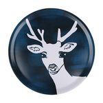 Deer 우드트레이 38cm (라운드 블루)