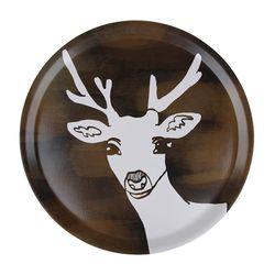 Deer 우드트레이 38cm (라운드 브라운)