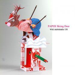 미리 크리스마스 스키잉 디어