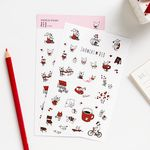 [~4/1일까지] SNOWCAT STICKER (RED)
