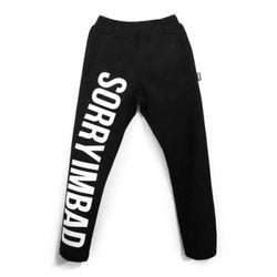 [레이쿠] sorry pants black unisex 트레이닝팬츠