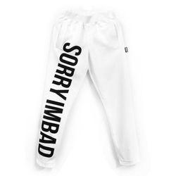 [레이쿠] sorry pants white unisex 트레이닝팬츠