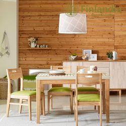 핀란디아 로제타 4인대리석식탁세트(의자4)
