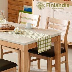 핀란디아 세레스 4인대리석식탁세트(의자2+벤치1)