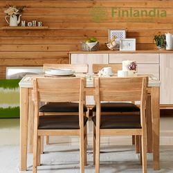 핀란디아 스웰 4인대리석식탁세트(의자4)