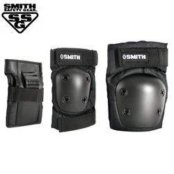 SMITH SCABS YOUTH 3-PACK SAFETY GEAR SET (Black)