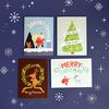 SANTA & RUDOLPH CHRISTMAS card set